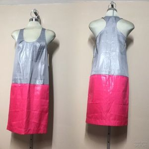 Metallic Silver and Pink colour, shifty Dress,